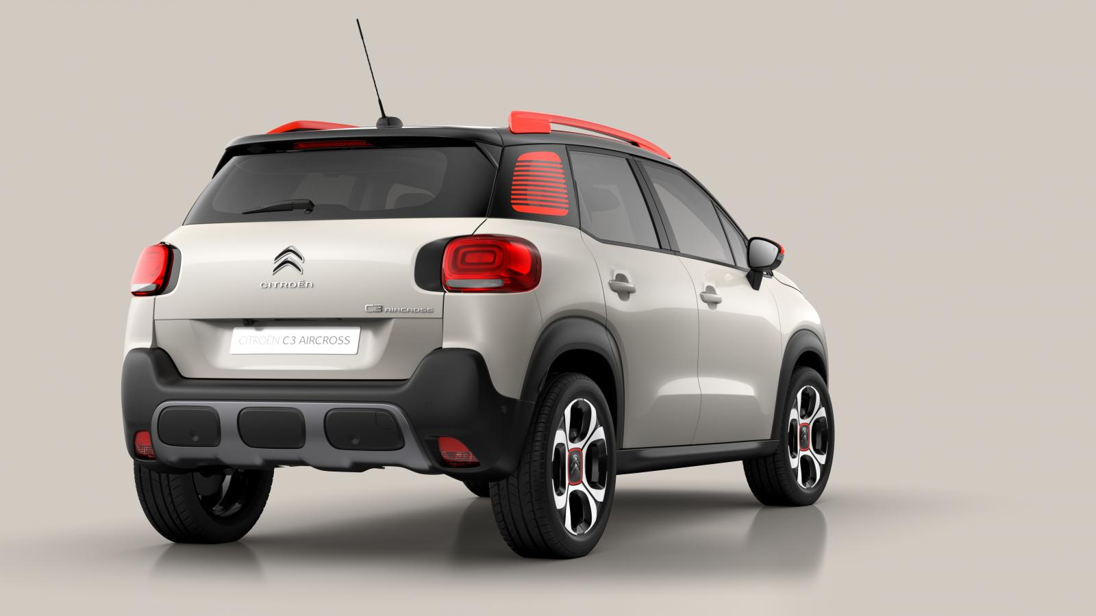 Compact SUV C3 Aircross  - 3/4 Heckansicht
