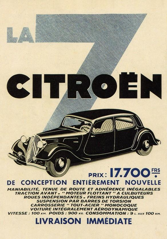 Traction 7A 1934 Farbe Werbung